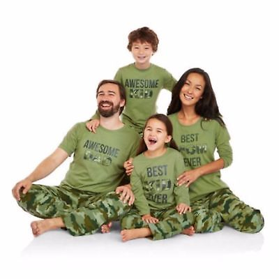 NEW Holiday Family Pajamas Camo Sleep Pant & Top 2 Piece Set BEST KID XS 4/5