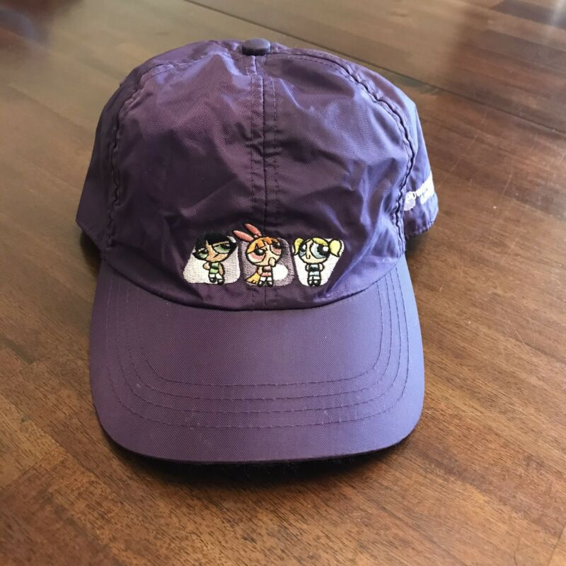VTG Powerpuff Girls Hat Cartoon Network Nylon Adjustable Purple 2000