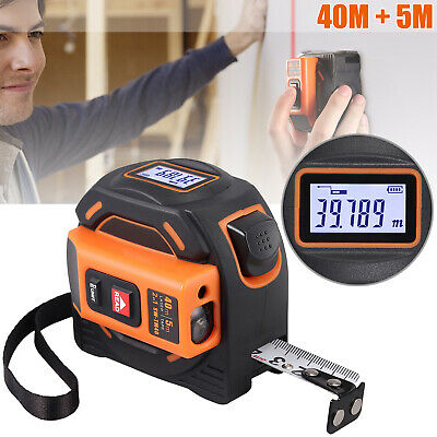 Laser Tape Measure Lcd Digital 2in1 Tape Measure 131 16ft Metric Inches Movable