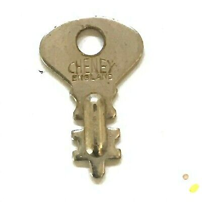 """🗝️ Vintage English """"CHENEY"""" DOUBLE-SIDED KEY for Travel Suitcase, Luggage, Bags"""