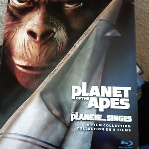 Planet of the Apes 5 film collection on blu ray
