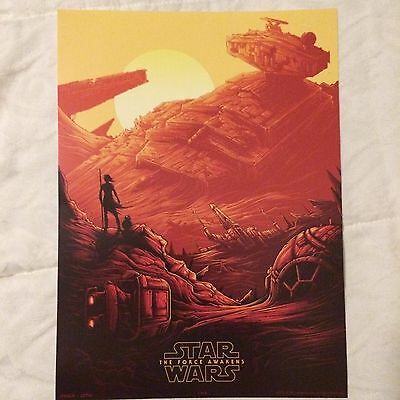 STAR WARS: THE FORCE AWAKENS (Rey/BB-8) EXCLUSIVE AMC IMAX 9.5x13