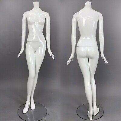 Patina V Mannequin White Gloss Full Size Female Headless Modern Image Im17a