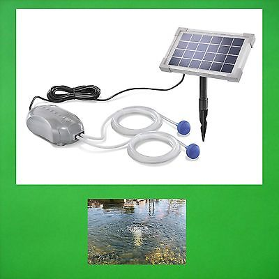 2,5 W Solar Pond Aerator Oxygen Pump Garden Pond Ventilator Pump New