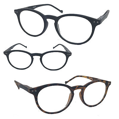 Round Oval Matte Plastic Frame Reading Glasses Readers John Lenon Up to +6.00 - Lenon Glasses