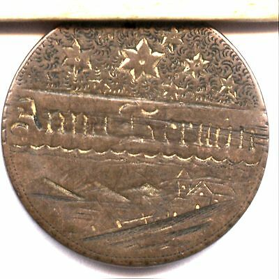 ULTRA    FANTASTIC TWO CENT LOVE TOKEN  PICTORIAL; CHURCH SKY STARS