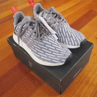 Adidas NMD R2 Grey Silver Stripes Size UK 7 BY2097