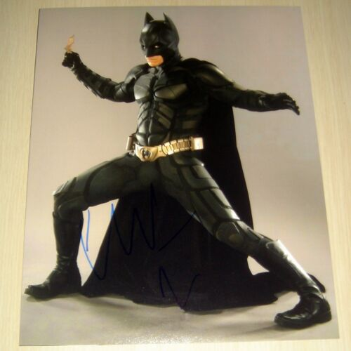 CHRISTIAN BALE.. Batman: The Dark Knight (11x14)  SIGNED