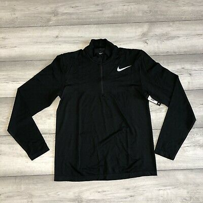 NIKE GOLF DRI-FIT KNIT ZIP BLACK SIZE SMALL 833280-010