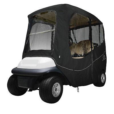 Classic Accessories Fairway Golf Cart Deluxe Enclosure  Black  Short Roof