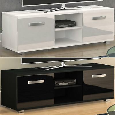 Entertainment Stand (Cosmo TV Stand Cabinet Unit 2 Door Modern Gloss Matte MDF Entertainment 120cm)