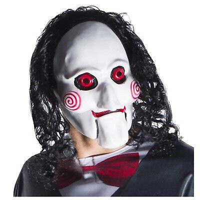 Saw Clown Costume (Saw Movie Billy Puppet Clown Scary Half Latex Halloween Costume Mask Adult)