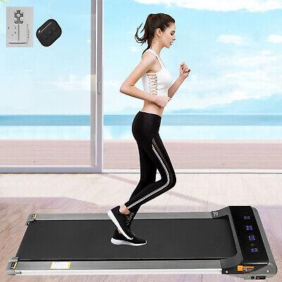 Electric Treadmill 2in1 1.5HP Under Desk Treadmills Fitness Remote Control Home