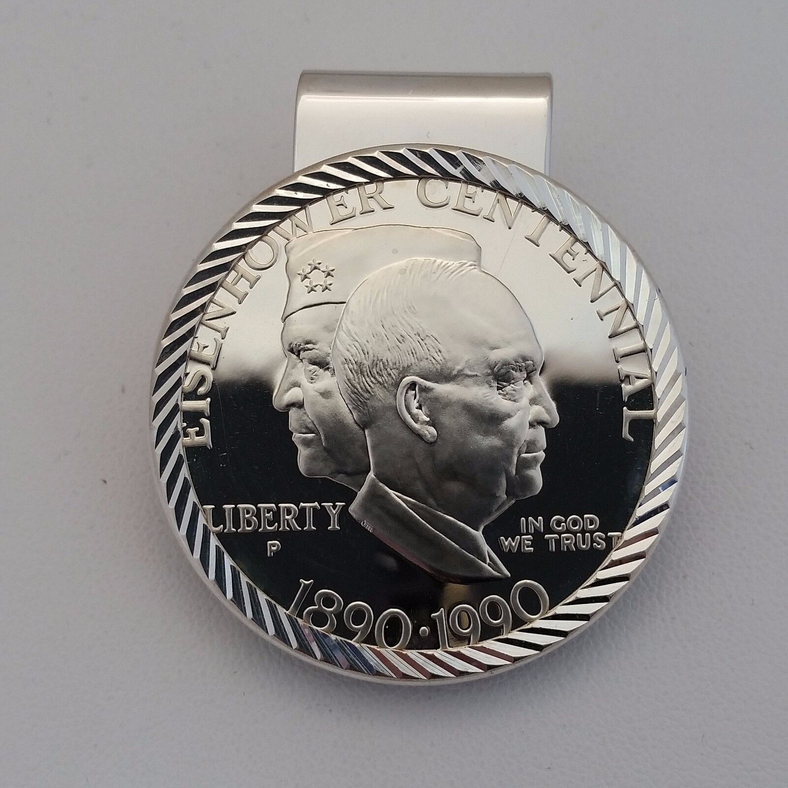 1990 Eisenhower Commemorative Silver Dollar Proof US Coin OGP
