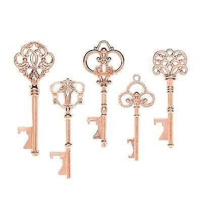 50 Assorted Key Bottle Openers Vintage Skeleton Keys Rose Gold Wedding Favors - Bottle Openers Wedding Favors
