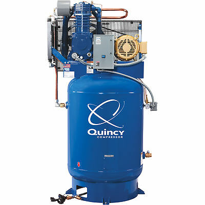 Quincy Qt-10 Splash Lub. Reciprocating Compressor-10hp 460v 3phase 120gal.