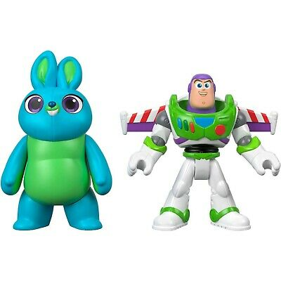 Imaginext Disney 2 Pack Toy Story 4 Bunny & Buzz Lightyear Action Figures