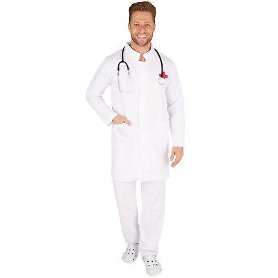 Herrenkostüm Doktor Chirurg Arzt Arztkostüm Kittel Doc OP - Halloween Herren