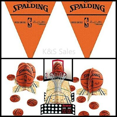 Basketball Birthday Decorations (BASKETBALL SPALDING Party Game Decorations Table Centerpiece Kit Wall)