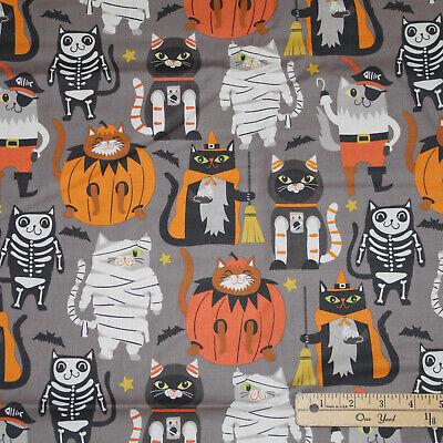 Boo Crew Cat Halloween Costume Dress Up Gray Fabric   22