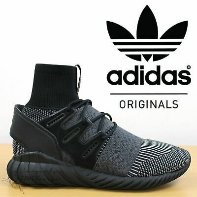 ✅24h DELIVERY✅ Adidas Tubular Doom Primeknit Men's Trainers Black Retro Shoes