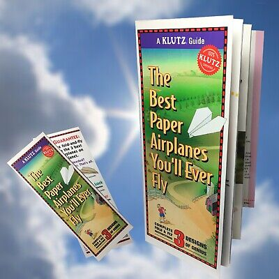 The Best Three Paper Airplanes You'll Ever Fly ~ A Klutz Complete Builders (Best Paper Airplane Template)