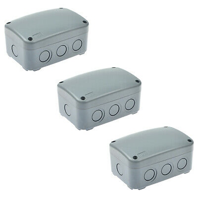 3 Pack Weatherproof Ip66 Junction Box Indoor Outdoor Waterproof Junction Box New