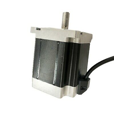 Us Ship 1pc Nema 34 Stepper Motor 1600 Oz.in 6a Key Way Shaft 126mm Cnc