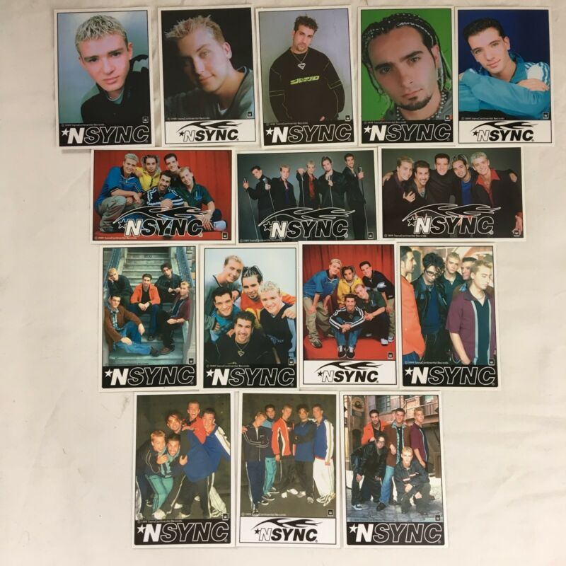 Full Set of 15 NSYNC Sticker Collection 1999 Trans Continental Records Justin FS