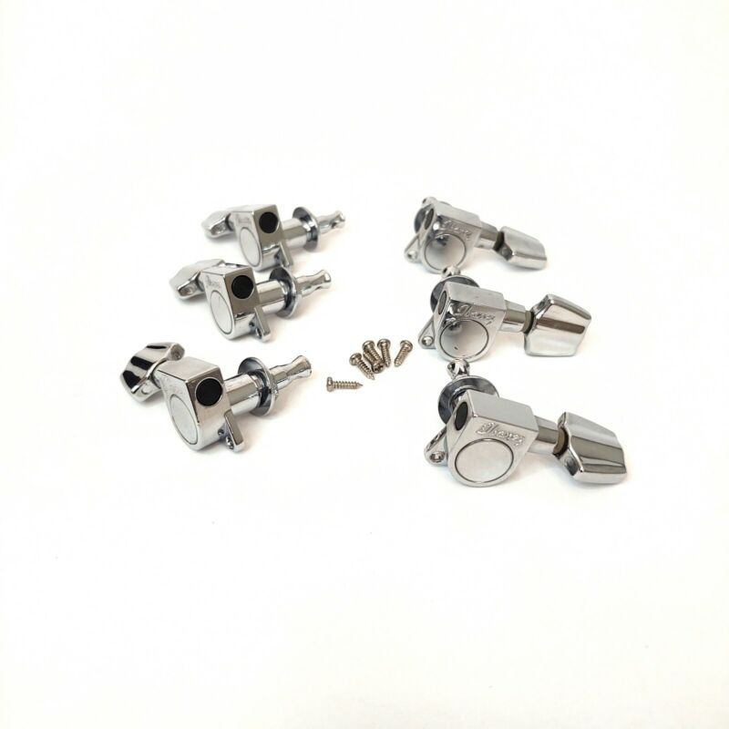 3 Per Side Guitar Chrome Sealed Tuning Pegs Tuners Set from Ibanez Acoustic