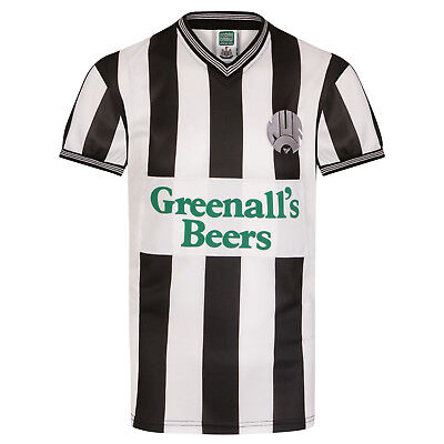 Newcastle United FC Official Football Gift Mens 1985 Retro Home Kit Shirt