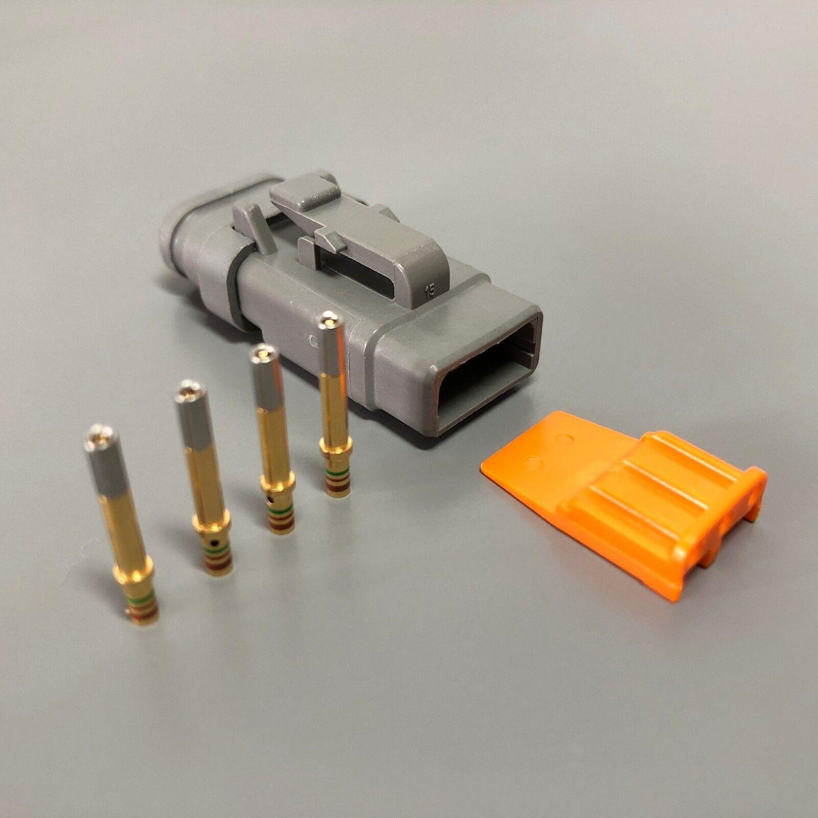 5x Deutsch DTM 3-Way Socket Connector Kit 24-20 AWG Gold Contact Plug DTM06-3S