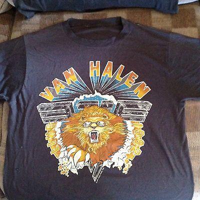 1982 VAN HALEN Concert M T-shirt Vintage
