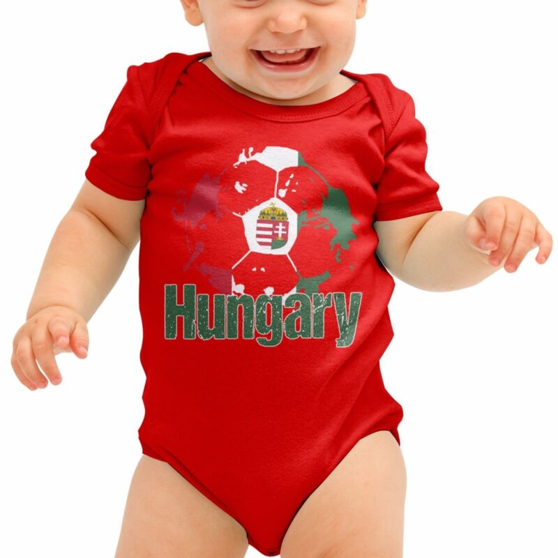 Hungary Football Shirt Red White Baby Grow Romper Suit Babygrow Body Suit B40
