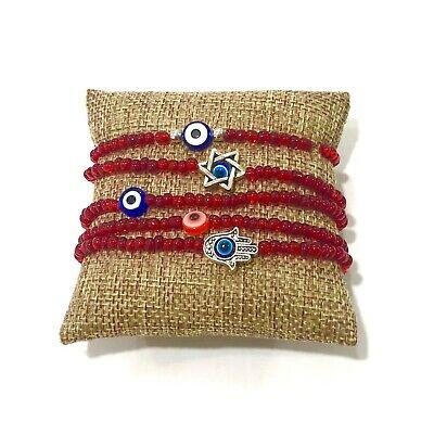 Evil Eye Bracelet Lucky For Protection David Star Hamsa Glass Beads by Ruigos  (Lucky Evil Eye Protection)
