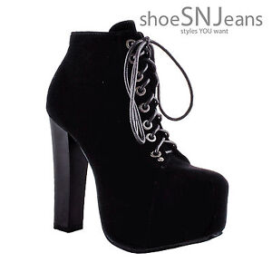 New Women's Lace Up Bootie High Heel Platform Party Dressy Shoes Boots Delicacy