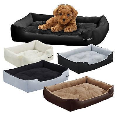 [en.casa]® Hundebett Katzen Bett + Kissen Tier Korb Hundekissen Hundesofa Liege