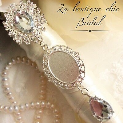 lovely bridal bouquet photo frame memory charm brooch, wedding, bride ,gift