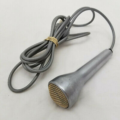 """Vintage Voice of Music Brushed Aluminum Sonotone Microphone ¼"""" Jack"""