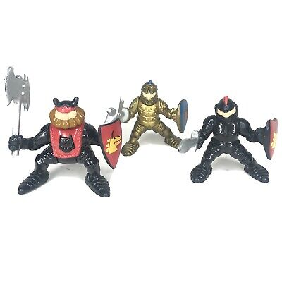 3 Fisher Price Imaginext Great Adventures Castle 1994 Black Gold Knights King