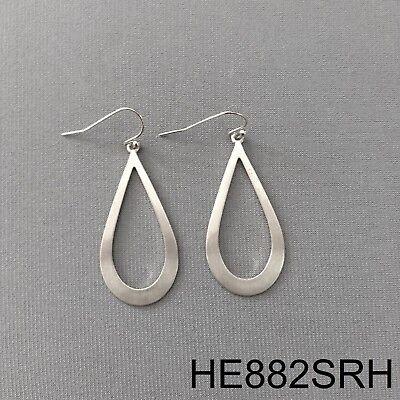 Trendy Bohemian Style Silver Finish Tear Drop Shape Simple Hoop Dangle  (Tear Drop Shape)