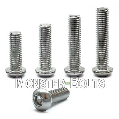 M10 - 1.50 Stainless Steel Button Head Socket Cap Screws Metric Iso 7380 A2