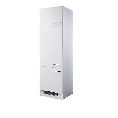Kühlschrankumbauschrank CORVARA - 3-türig - 60 cm breit - Weiß Kühlschrank-schrank