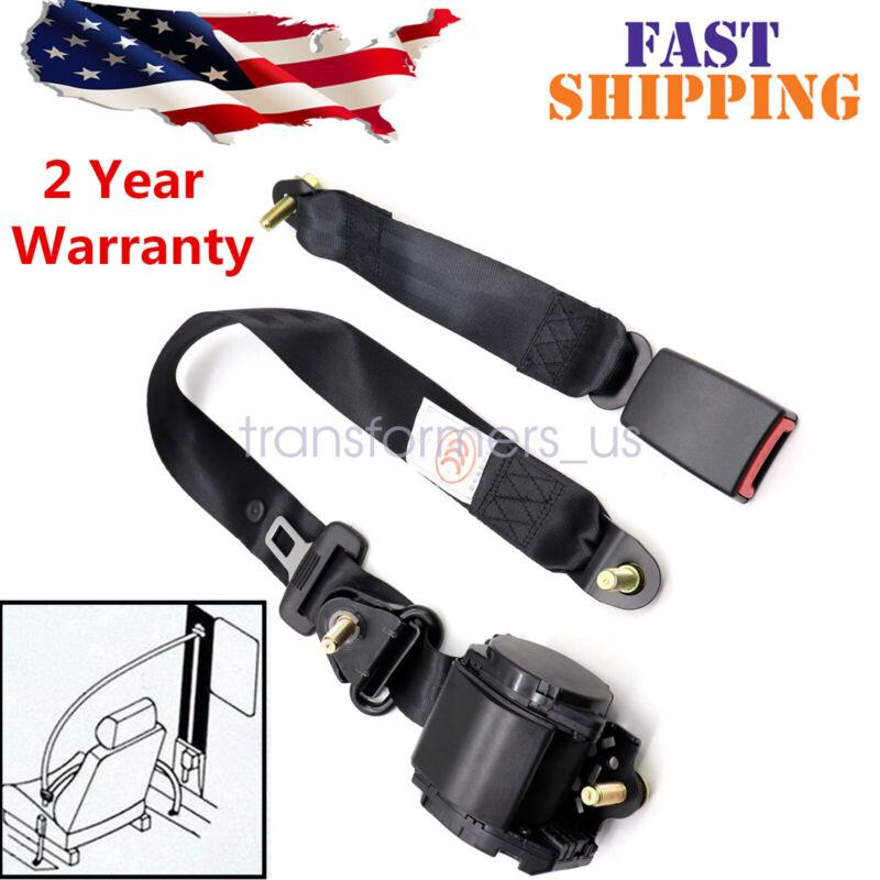 3 Point Safety Seat Belt Straps 1Set Heavy Duty Car Truck Adjustable Retractable