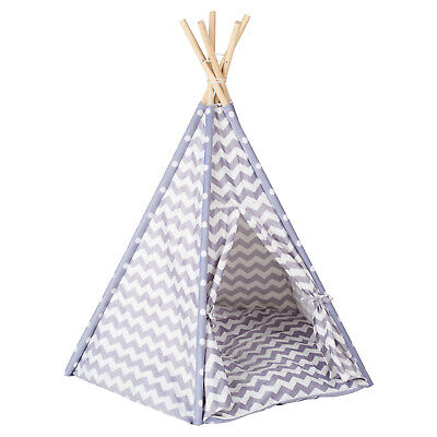 Me & My Pets Grey Teepee Bed Cat/Kitten/Dog/Puppy Igloo Play Tent Tipi House