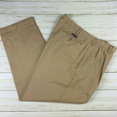 Men's Nautica Double Pleat 38 x 32 Medium Beige Khaki dress pants