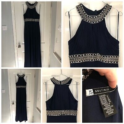 Navy Evening Dress Size 8/10
