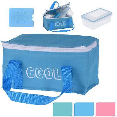 Kühltasche 2,6L mit Kühlakku und Lunchbox Isoliertasche Kühlbox Isotasche 619855