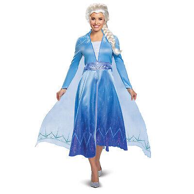 Halloween Costumes Deluxe (Disney Adult Womens DELUXE Frozen 2 Elsa Snow Queen Halloween Costume Dress)