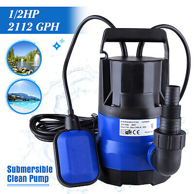 12 Hp 2112gph Submersible Water Pump Swimming Pool Dirty Flood Clean Pond 400w